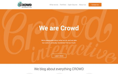 Screenshot of About Page crowdint.com - Crowd Interactive | Leading eCommerce consultancy firm - captured Sept. 23, 2014