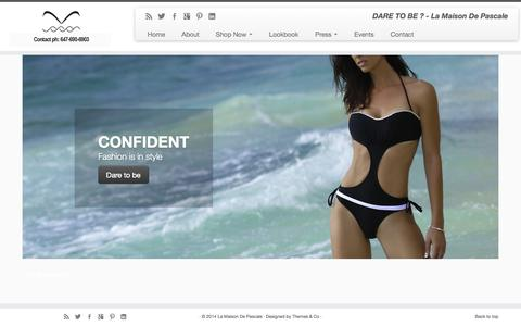 Screenshot of Home Page pascaleswim.com - Visit Pascale Swim your guide into new season swimwear styles. - captured Oct. 1, 2014