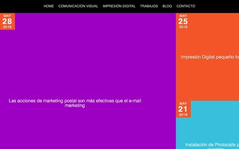 Screenshot of Blog perfil4.es - Blog | Imprenta en Madrid | Perfil4 - captured May 11, 2017