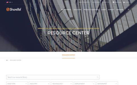 Resource Center | ShoreTel - Business communications solutions that make interactions simple