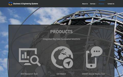 Screenshot of Products Page 4dvresearch.com - Products | Business & Engineering SystemsBusiness & Engineering Systems - captured Oct. 5, 2014