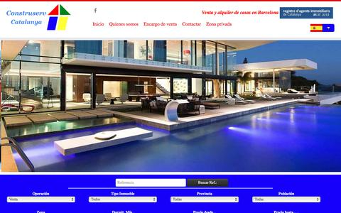 Screenshot of Home Page construservcatalunya.com - Construserv Catalunya, tu inmobiliaria de Barcelona - captured July 21, 2018