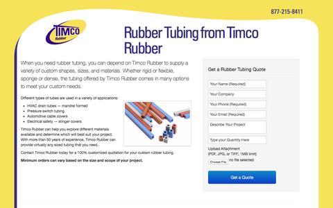 Screenshot of Landing Page timcorubber.com - Timco Rubber   Rubber Tubing - captured Oct. 21, 2016