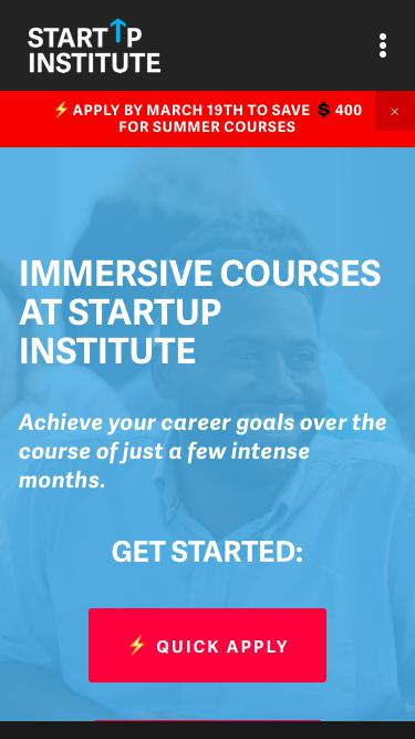 Full and Part-Time Coding, Web Design, Marketing, and Sales Courses | Startup Institute