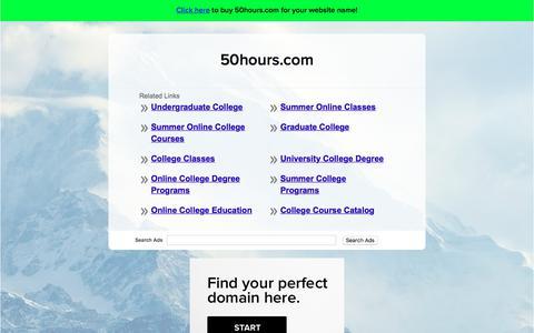 Screenshot of Home Page 50hours.com - 50hours.com - captured Nov. 1, 2017