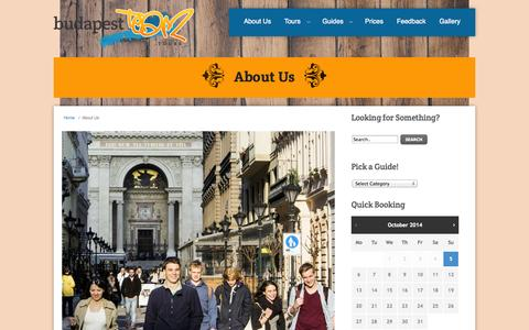 Screenshot of About Page budapest-team.com - About Us - Budapest Team Tours - captured Oct. 5, 2014