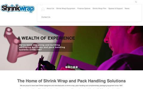 Screenshot of Home Page shrinkwrap.co.uk - Shrinkwrap Machinery Co.   Shrink Wrap Equipment - captured Oct. 4, 2017