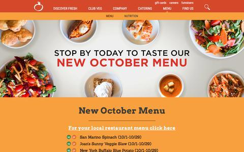 Screenshot of Menu Page sweettomatoes.com - Souplantation Menu | Soup, Salad & More | Salad Bar Restaurant - captured Oct. 10, 2017