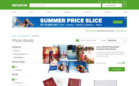Screenshot of groupon.com - Photo Books - Deals & Coupons | Groupon - captured July 20, 2017