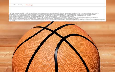 Screenshot of Jobs Page agapehoops.com - Jobs Listing | Agape Hoops - captured March 6, 2016