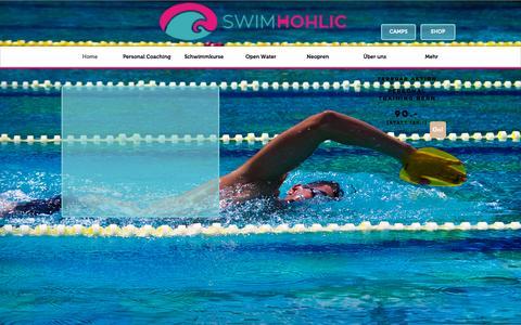 Screenshot of Home Page swimhohlic.com - Swimhohlic GmbH - captured Feb. 22, 2016