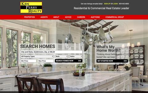 Screenshot of Home Page kenperryrealty.com - Homes For Sale in Northern Kentucky Along With Commercial Real Estate For Sale - captured Nov. 6, 2018