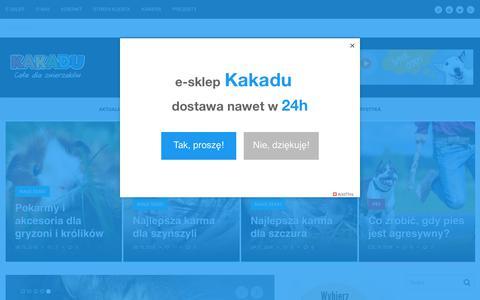 Screenshot of Home Page kakadu.pl - Sieć sklepów zoologicznych Kakadu | Profesjonalna sieć sklepów zoologicznych - captured Oct. 14, 2018