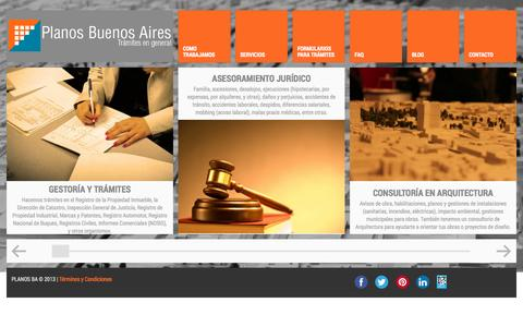 Screenshot of Home Page planosba.com.ar - Planos Buenos Aires - Trámites en General - captured Oct. 3, 2014