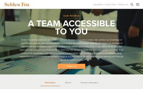Screenshot of Team Page seldenfox.com - Our People | Leadership Team | Selden Fox - captured Nov. 29, 2016