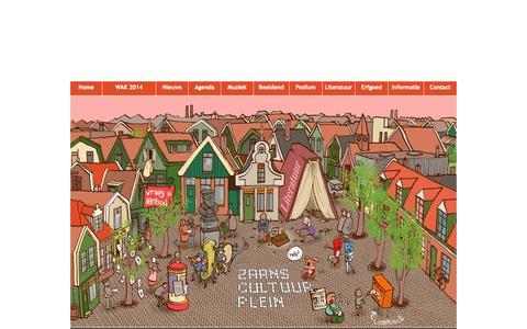 Screenshot of Home Page zaanscultuurplein.nl - Zaans Cultuur Plein ::: kunst en cultuur in Zaanstad - captured Sept. 11, 2015