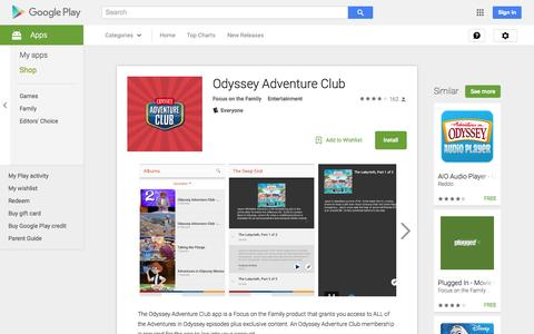 Screenshot of Android App Page google.com - Odyssey Adventure Club - Android Apps on Google Play - captured Nov. 13, 2015