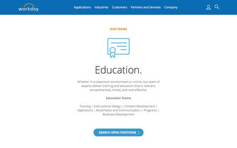 Workday Teams | Education