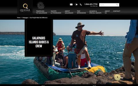 Screenshot of Team Page quasarex.com - Galapagos Islands Guides & Crew - Galapagos Naturalists - captured July 2, 2016