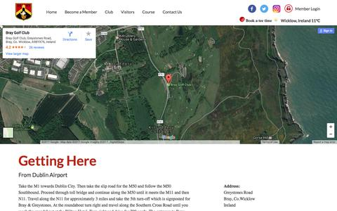 Screenshot of Maps & Directions Page braygolfclub.com - Bray, Co.Wicklow, Ireland - Directions - captured June 3, 2017