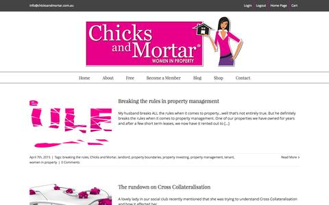 Screenshot of chicksandmortar.com.au - Chicks and Mortar Blog - captured June 21, 2015