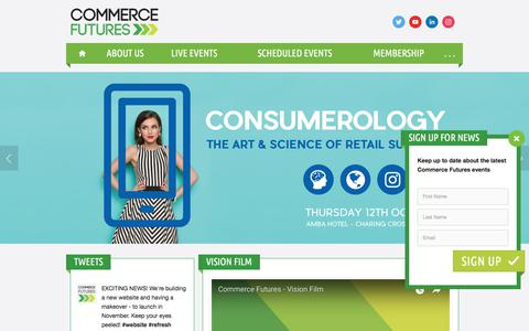 Screenshot of Home Page commerce-futures.com - Commerce Futures - captured Oct. 28, 2017