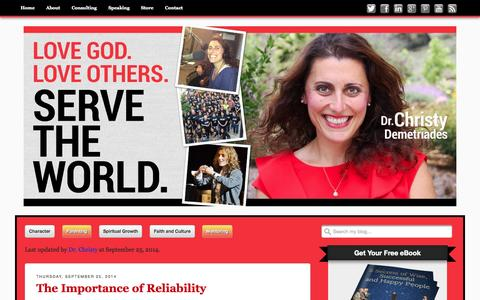 Screenshot of Team Page drchristyd.com - Parenting Archives - Christy Demetriades, Ph.D. - captured Oct. 5, 2014