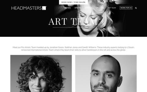 Screenshot of Team Page headmasters.com - Meet the Pro Artistic Team - Headmasters - captured July 25, 2017
