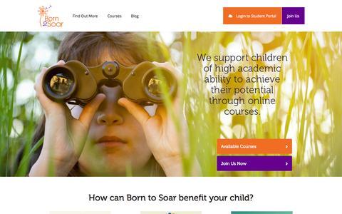 Screenshot of Home Page borntosoar.com.au - Born to Soar - Home - captured Oct. 5, 2014