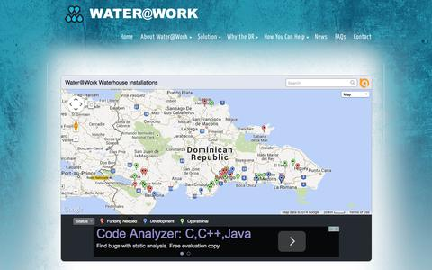 Screenshot of Maps & Directions Page wateratworkministry.org - Water House Locations   Water at Work Ministry - captured Oct. 27, 2014