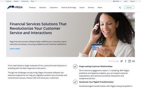 Financial Services Software & Client Journey Management | Pega