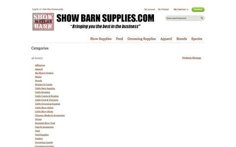 Screenshot of Site Map Page showbarnsupplies.com - Site Map - captured Oct. 9, 2014