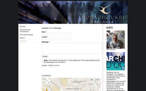 Screenshot of Contact Page jimdo.com - CONTACT - REDACHOUKRI - captured Sept. 16, 2014