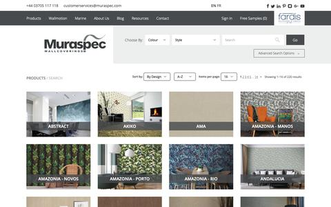 Screenshot of Products Page muraspec.com - Search - captured Nov. 18, 2018