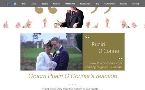 Screenshot of Testimonials Page gerryduffy.ie - Irish Wedding Video Testimonials by Gerry Duffys clients - captured Oct. 13, 2017