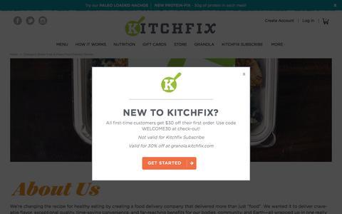 Screenshot of About Page kitchfix.com - Kitchfix Foods -  Chicago's Gluten Free & Paleo Food Delivery Service  - Kitchfix - captured Aug. 9, 2016