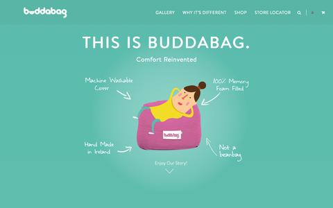 Screenshot of Home Page buddabag.com - BUDDABAG | Comfort Reinvented.Budda Bag - captured Oct. 5, 2014