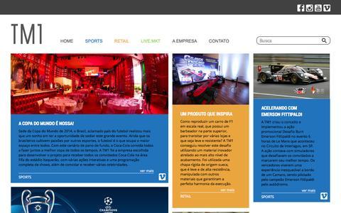 Screenshot of Home Page temperomidia.com.br - TM1 - Live Marketing - captured Sept. 30, 2014