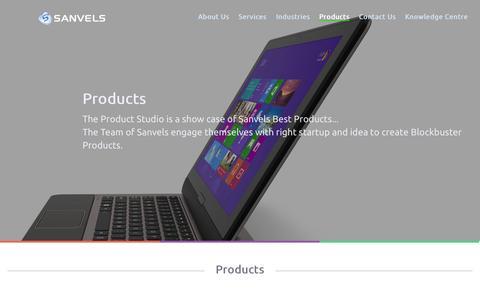 Screenshot of Products Page sanvelsinfo.com - Products - Sanvels Consulting Services India Pvt Ltd. - captured Oct. 4, 2014