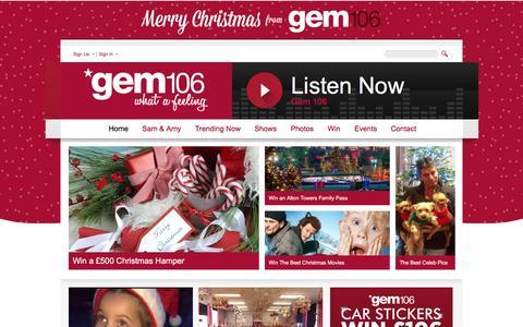Screenshot of Home Page gem106.co.uk - Home | Gem106 - captured Dec. 8, 2015