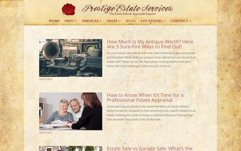 Screenshot of Blog prestigeestateservices.com - Blog - Prestige Estate Services - captured Nov. 11, 2018