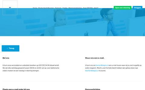 Screenshot of Contact Page degiro.nl - Neem contact op met DEGIRO - captured April 15, 2018