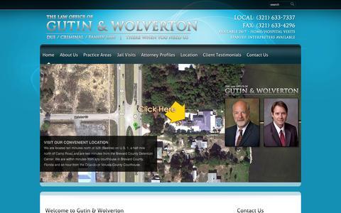 Screenshot of Home Page brevardcountyduilawyer.net - Brevard County DUI Lawyer   Brevard County Criminal Lawyer   Melbourne DUI Lawyer   Brevard County Criminal Defense Lawyers   Palm Bay DUI Lawyer - captured Oct. 6, 2014