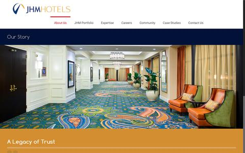 Screenshot of About Page jhmhotels.com - Our Story – JHM Hotels - captured July 21, 2016