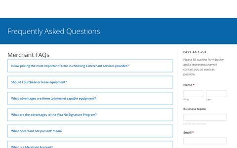 Screenshot of FAQ Page bigskycommerce.com - Big Sky Commerce | We make payments easy. - captured June 1, 2017