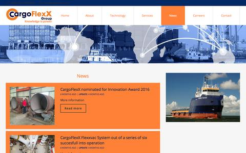 Screenshot of Press Page cargoflexx.com - News | CargoFlexX Group - captured July 16, 2018