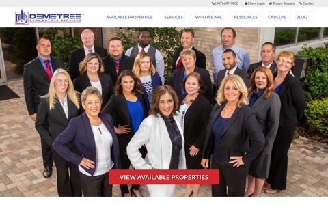 Screenshot of Home Page demetreerealestate.com - Demetree Real Estate Services | Real Estate Service Provider - captured July 20, 2019