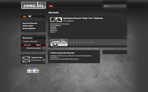 Screenshot of Home Page emmo.biz - Start - - captured Sept. 22, 2015
