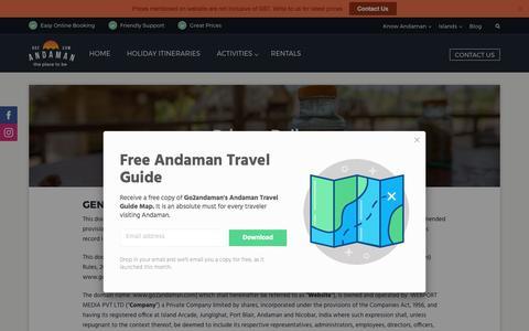 Screenshot of Privacy Page go2andaman.com - Privacy Policy - Go2andaman.com - captured Sept. 19, 2017