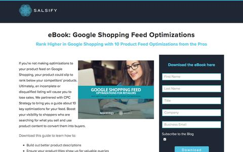 E-book: Google Shopping Feed Optimization
